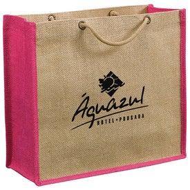 Logo Jute Gift Tote Bag