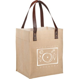 Large Jute Grocery Tote Bag