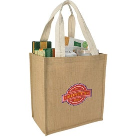 Company Jute Grocery Tote Bag