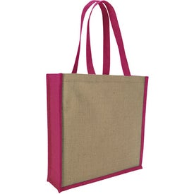 Logo Jute Portrait Tote Bag