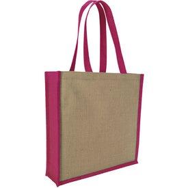 Logo Jute Portrait Tote Bag