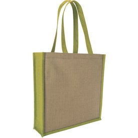 Jute Portrait Tote Bag with Your Logo