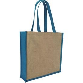 Jute Portrait Tote Bag for Customization