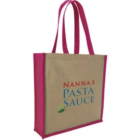 Advertising Jute Portrait Tote Bag