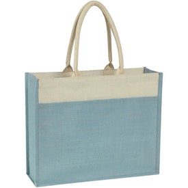 Advertising Jute Tote Bag with Front Pocket