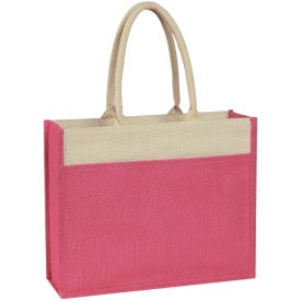 Jute Tote Bag with Front Pocket for Customization