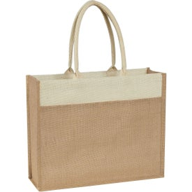 Promotional Jute Tote Bag with Front Pocket