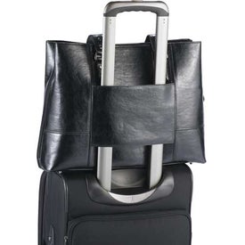 "Imprinted Kenneth Cole ""Tripled The Size"" Compu-Tote"