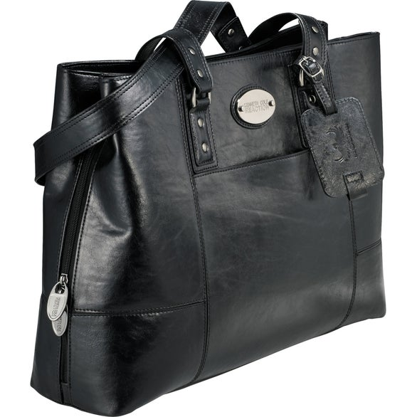 Black Kenneth Cole Triple Gusset Computer Tote Bag
