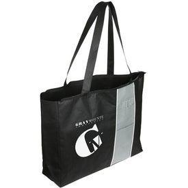 Monogrammed Kingston Zipper Tote Bag