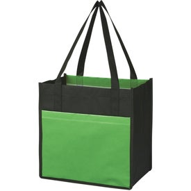 Lami-Combo Shopper Tote Imprinted with Your Logo