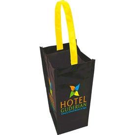 Laminated Non-Woven 1 Bottle Tote Bag