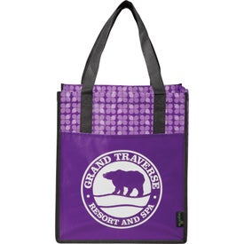 Laminated Non-Woven Big Grocery Tote for Your Company