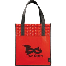 Laminated Non-Woven Big Grocery Tote with Your Slogan