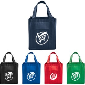Deluxe Laminated Non-Woven Grocery Tote Bags