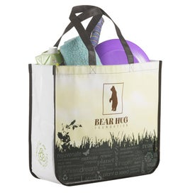 Non-Woven Laminated Large Shopper Tote Printed with Your Logo