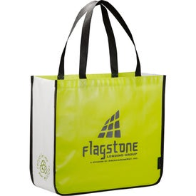 Laminated Non-Woven Large Shopper Tote with Your Slogan