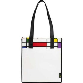 Branded Laminated Non-Woven Mod Convention Tote Bag