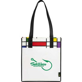 Laminated Non-Woven Mod Convention Tote Bag for Customization