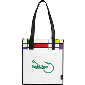 Laminated Non-Woven Mod Convention Tote Bag with Your Logo