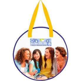 Laminated Non-Woven Round Tote Printed with Your Logo