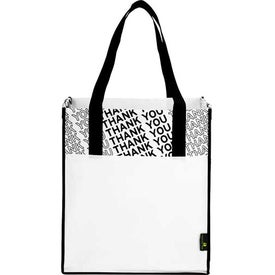 Laminated Non-Woven Thank You Big Grocery Tote for Your Company