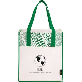 Laminated Non-Woven Thank You Big Grocery Tote for Marketing