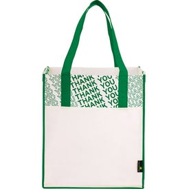Company Laminated Non-Woven Thank You Big Grocery Tote