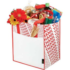 Laminated Non-Woven Thank You Big Grocery Tote