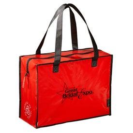 Branded Laminated Non Woven Box Zippered Tote