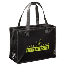 Promotional Laminated Non Woven Box Zippered Tote