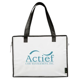 Laminated Non Woven Box Zippered Tote