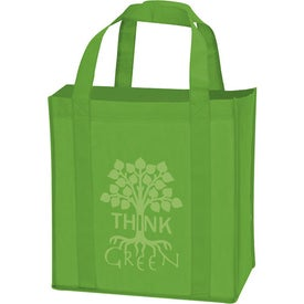 Laminated Non-Woven Grocery Tote with Your Logo