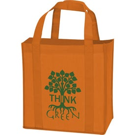 Laminated Non-Woven Grocery Tote with Your Slogan