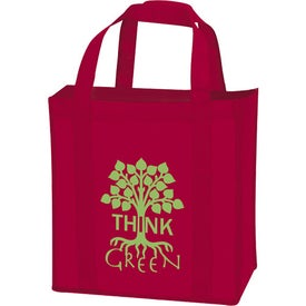 Personalized Laminated Non-Woven Grocery Tote