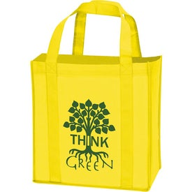 Laminated Non-Woven Grocery Tote for Advertising