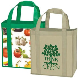 Laminated Non-Woven Grocery Tote (PS)