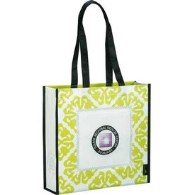 Laminated Non-Woven Retro Convention Tote with Your Logo