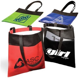 Laminated Non-Woven Duo-Tone Tote - 80GSM with Your Slogan