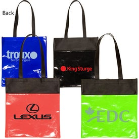Laminated Non-Woven Duo-Tone Tote - 80GSM with Your Logo