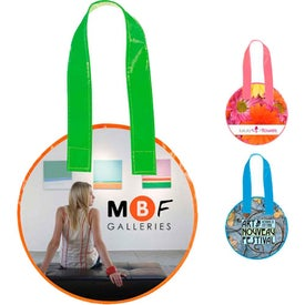 Imprinted Laminated Non-Woven Mini Round Tote