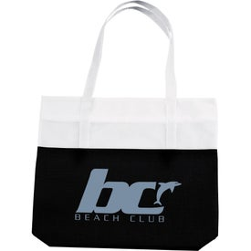 Imprinted Large 2-Tone Tote Bag