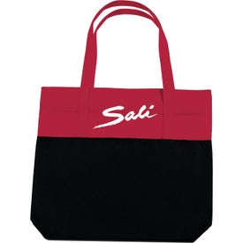 Branded Large 2-Tone Tote Bag