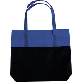 Large 2-Tone Tote Bag Imprinted with Your Logo