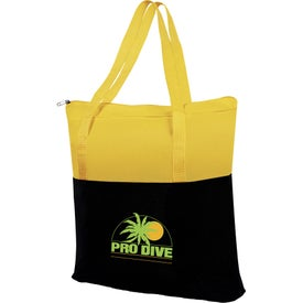 Custom Large 2-Tone Tote Bag