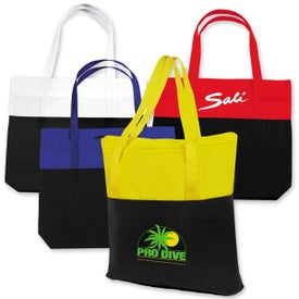 Large 2-Tone Tote Bag with Your Logo