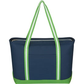 Imprinted Large Cotton Canvas Admiral Tote