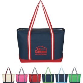 Large Cotton Canvas Admiral Tote with Your Logo