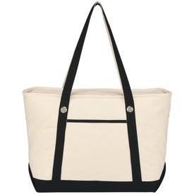 Printed Large Cotton Canvas Sailing Tote
