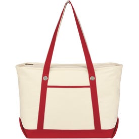 Large Cotton Canvas Sailing Tote for Marketing